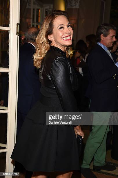 Barbara d'Urso attends CONFUSI E FELICI Dinner Party at Caruso at Grand Hotel Et De Milan on October 28 2014 in Milan Italy