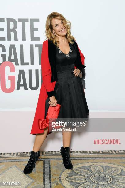 Barbara D'Urso attends 'Grazia Scandal' party during Milan Fashion Week Fall/Winter 2018/19 on February 21 2018 in Milan Italy