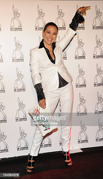 Barbara D'Urso attends La Febbre del Sabato Sera photocall at Teatro Nazionale on October 18 2012 in Milan Italy