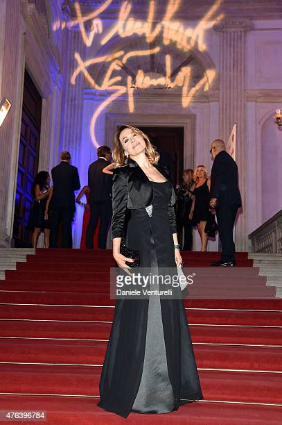 Barbara D'Urso attends Prince Albert II Of Monaco Foundation Gala Dinner on June 8 2015 in Milan Italy