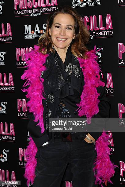 Barbara D'Urso attends 'Priscilla The Queen Of Desert' Opening Night on December 14 2011 in Milan Italy