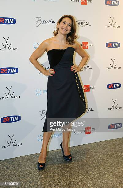 Barbara D'Urso attends SmileAgain and Brave Models Charity Event on November 25 2011 in Milan Italy