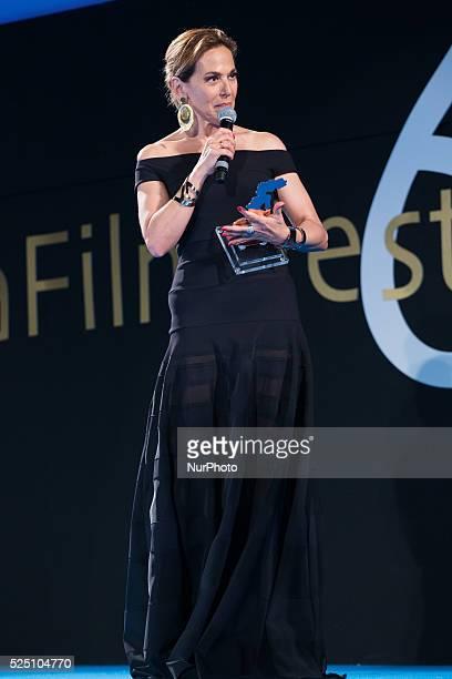 Barbara d'Urso attends the 61th Taormina Film Festival on June 13 2015 in Taormina Italy