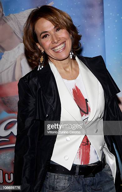 Barbara D'Urso attends the Aladin The Musical Red Carpet held at Teatro Nuovo on November 9 2010 in Milan Italy