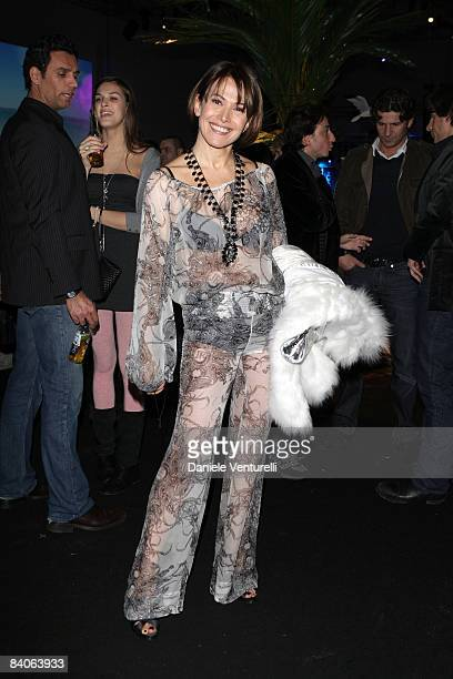 Barbara D'Urso attends the Corona Save The Beach Tour Partyat La Pelota on December16 2008 in Milan Italy