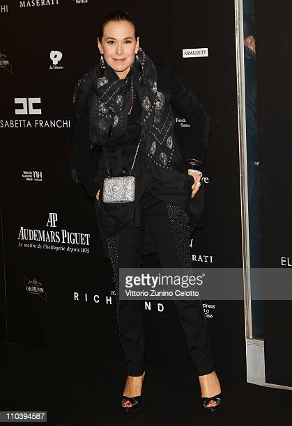 Barbara D'Urso attends the Fundaction Privada Samuel Eto'o Charity Event Red Carpet on March 17 2011 in Milan Italy