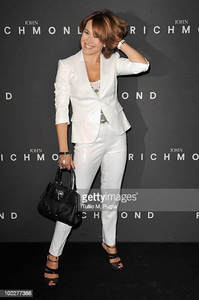 Barbara D'Urso attends the John Richmond Milan Menswear Spring/Summer 2011 show on June 21 2010 in Milan Italy