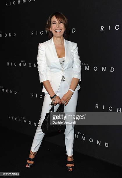 Barbara D'Urso attends the John Richmond Milan Menswear Spring/Summer 2011 show on June 21 2010 in Milan Italy