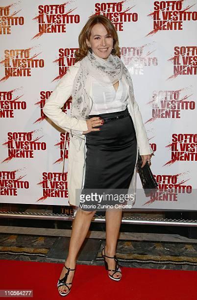 Barbara D'Urso attends the Sotto Il Vestito Niente L'Ultima Sfilata Milan Premiere held at Cinema Odeon on March 21 2011 in Milan Italy