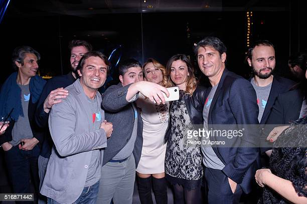 Barbara D'urso attends Twitter's 10th Anniversary party on March 21 2016 in Milan Italy