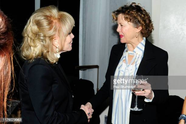Barbara Eden and Annette Bening attend The Cinema Society With Synchrony Bank And FIJI Water Host The After Party For Marvel Studios' 'Captain...