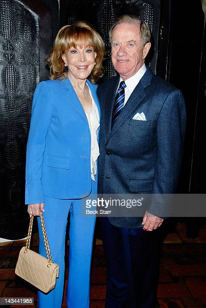 Barbara Eden and her husband Jon Eicholtz attend The Hollywood Chamber Of Commerce Lifetime Achievement Award ceremony for Barbara Eden at Hollywood...