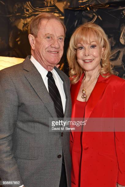 Barbara Eden and Jon Eicholtz attend the press night after party for Ruthless The Musical at The Ham Yard Hotel on March 27 2018 in London England