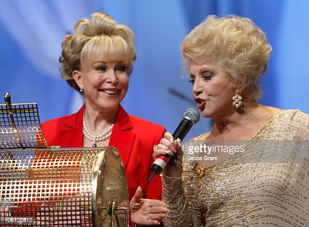 Barbara Eden and Ruta Lee during 51st Annual Thalians Ball - Show at Hyatt Regency Century Plaza in Century City, California, United States.