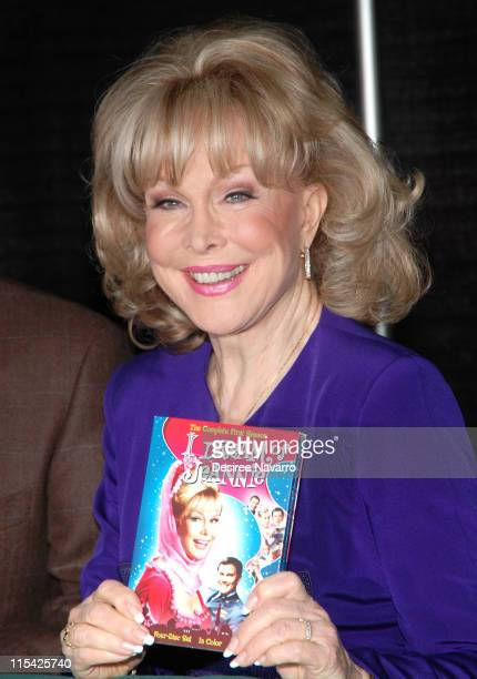 Barbara Eden during Barbara Eden Larry Hagman Sign I Dream Of Jeannie DVD March 15 2006 at Barnes Noble in New York City New York United States