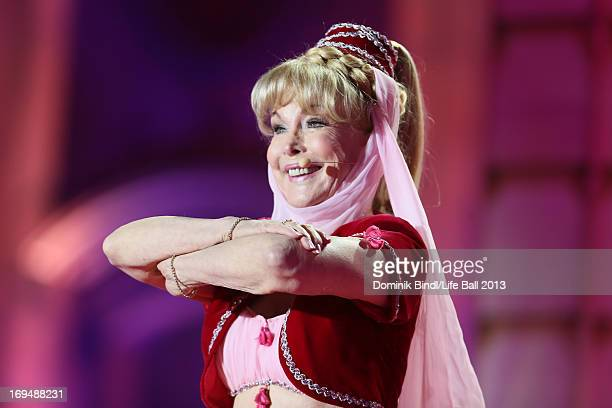 Barbara Eden performs during the 'Life Ball 2013 - Show' at City Hall on May 25, 2013 in Vienna, Austria.