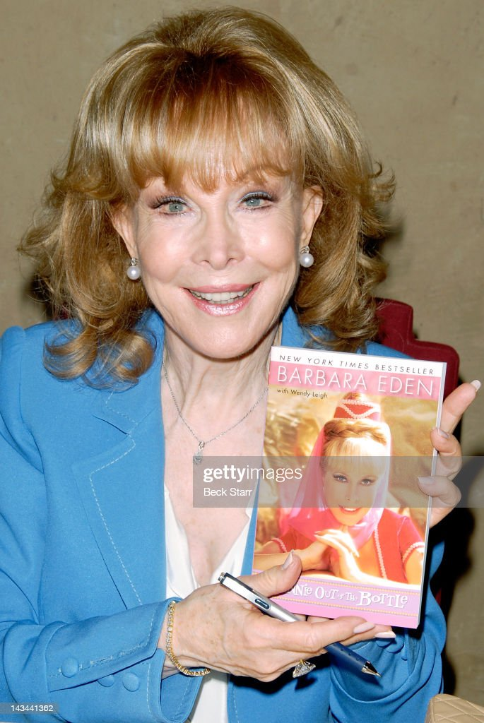 Barbara Eden signs copies of her new book 'Jeannie Out Of The Bottle' and accepts a Lifetime Achievement Award from The Hollywood Chamber Of Commerce at Hollywood Roosevelt Hotel on April 26, 2012 in Hollywood, California.