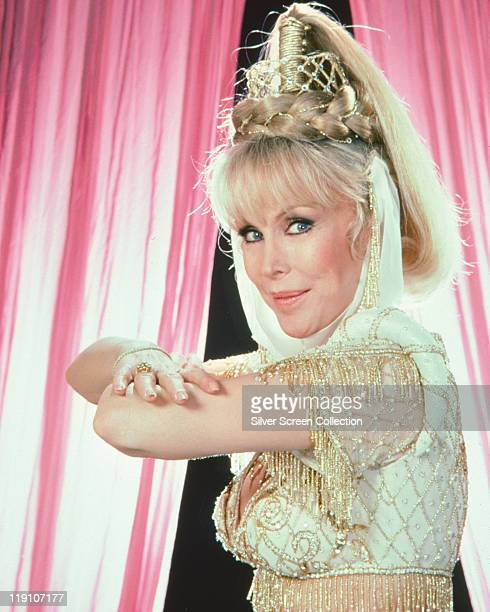 Barbara Eden US actress in a publicity portrait for the US television series 'I Dream of Jeannie' USA circa 1967 Eden starred as 'Jeannie' in the...