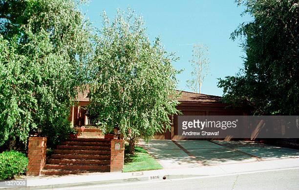 Barbara Eden''s home photographed June 26 2001 in Beverly HillsCA Eden''s son Matthew Michael Ansara was found dead June 25 2001 in Monrovia CA The...