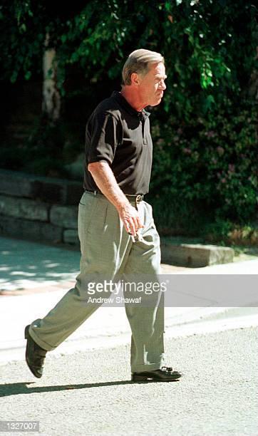 Barbara Eden''s husband Jon Eicholtz walks to his car June 26 2001 in Beverly Hills CA Eden''s son Matthew Michael Ansara was found dead on June 25...