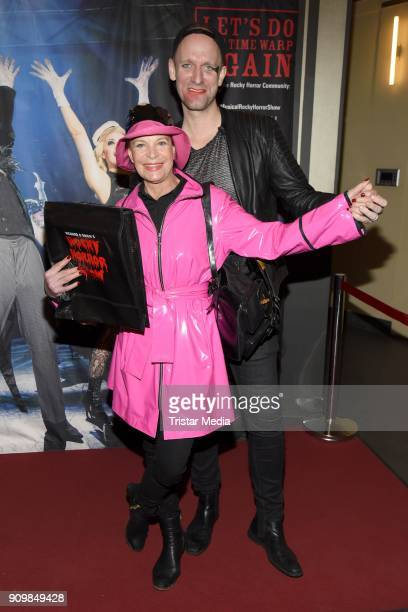 Barbara Engel and Daniel Termann attend the Richard O'Brien's Rocky Horror Show premiere on January 24 2018 in Berlin Germany