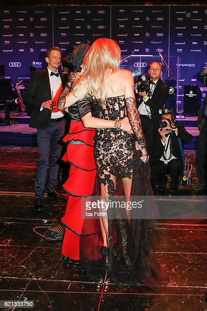 Barbara Engel and Gisela Muth attend the aftershow party during the 23rd Opera Gala at Deutsche Oper Berlin on November 5 2016 in Berlin Germany