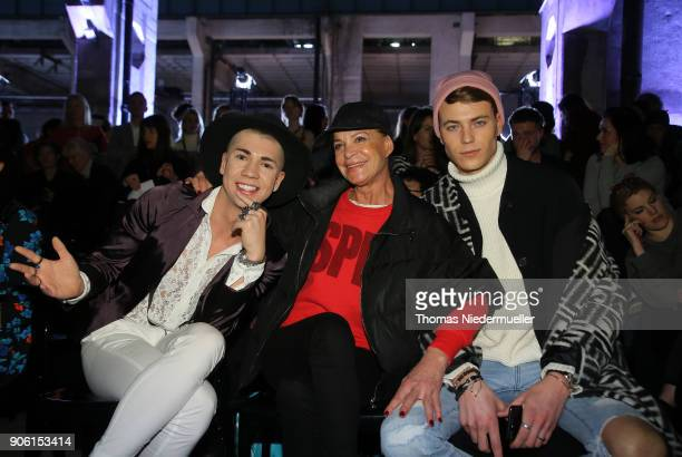 Barbara Engel and Maximilian Seitz attend the Greenshowroom Ethical Fashion Show Berlin at Kraftwerk Mitte on January 17 2018 in Berlin Germany