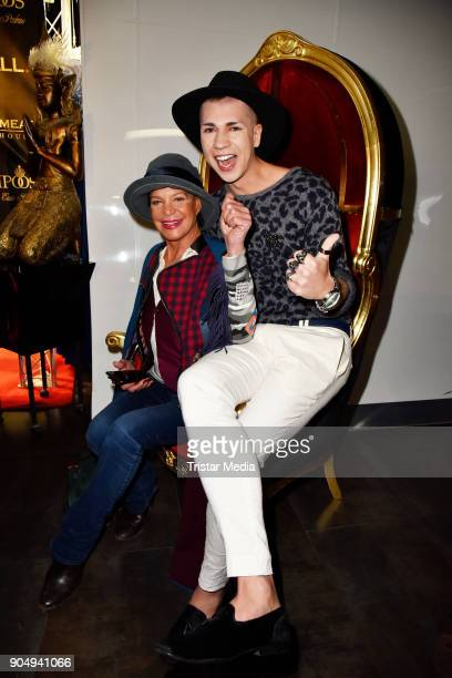 Barbara Engel and Maximilian Seitz attend the Pompoeoes Welcome Party 2018 on January 14 2018 in Berlin Germany
