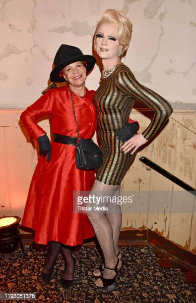 Barbara Engel and Sina Valentina attend the Harald Gloeoeckler and Eric Sindermann fashion show at The Grand on January 10 2020 in Berlin Germany