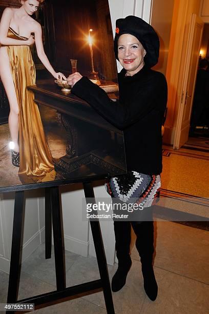 Barbara Engel attends Lambertz Fine Art Calendar 2016 presentation at Hotel De Rome on November 17 2015 in Berlin Germany