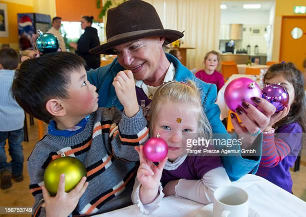 Barbara Engel attends the Celebrity Charity Cooking with children at the CJD on November 20 2012 in Berlin Germany