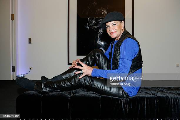 Barbara Engel attends the opening night of 'Smoke@thewater' by Tom Lemke at the der Richard Meier Villa on October 23 2012 in Hamburg Germany