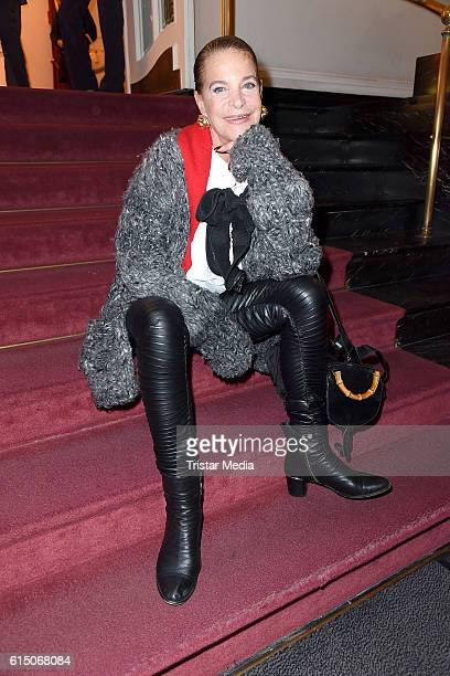 Barbara Engel attends the 'Sister Act The Musical' premiere Party at Stage Theater on October 16 2016 in Berlin Germany