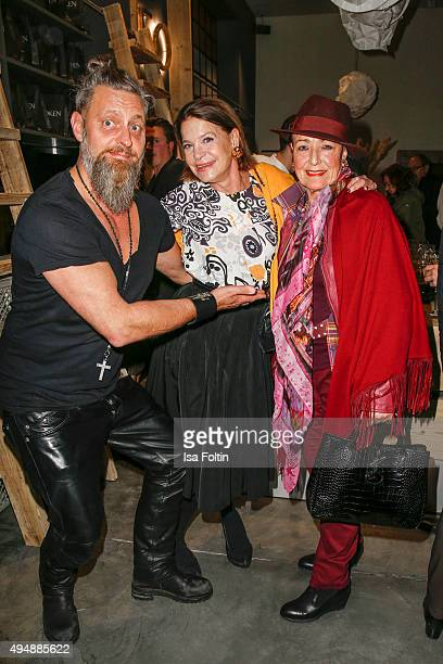 Barbara Engel Baerbel Wierichs and guest attend the Flaconi Neo Salon Opening on October 29 2015 in Berlin Germany