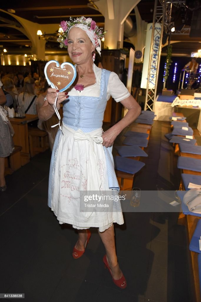 Barbara Engel during the Angermaier Trachten-Nacht at Hofbraeuhaus on August 31, 2017 in Berlin, Germany.