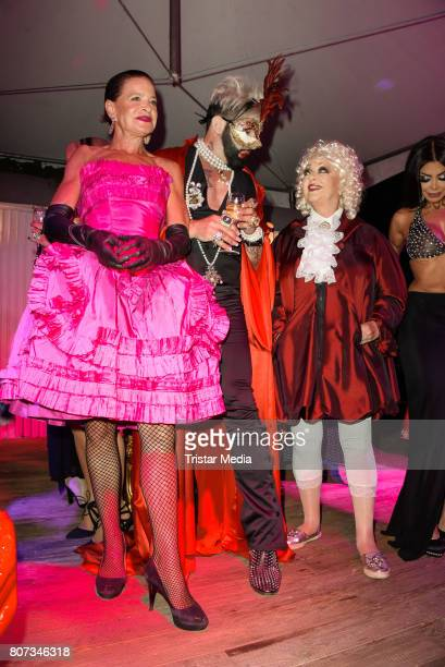 Barbara Engel Harald Gloeoeckler and Barbara Schoene attend the Fashion Week Berlin Opening Night With Dandy Diary And Harald Gloeoeckler at Insel...