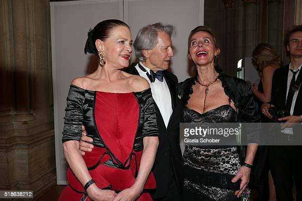 Barbara Engel Herzsprung Bernd Herzsprung and Maria Lahr during the 7th 'Filmball Vienna' at City Hall on April 1 2016 in Vienna Austria
