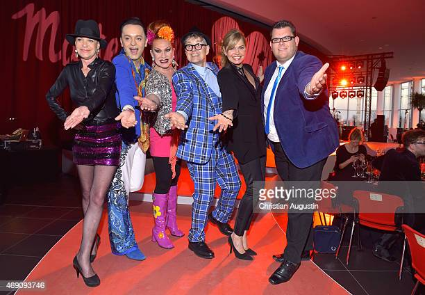 Barbara Engel, Julian F.M. Stoeckel, Jean Rogers, Rolf Scheider, Maren Gilzer and Dennis Schick attend the 'Maite Kelly & bonprix' Spring/Summer 2015...