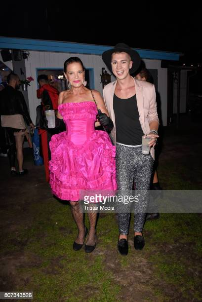 Barbara Engel Maximilian Seitz attend the Fashion Week Berlin Opening Night With Dandy Diary And Harald Gloeoeckler at Insel der Jugend on July 3...