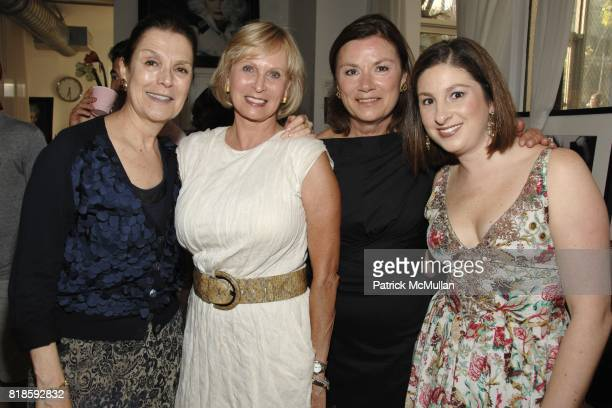 Barbara EvansButler Ann Sather Victoria Ghilaga and Katherine Martini attend WITH LOVE EMILE GHILAGA Emilie Ghilaga Dress Collection LAUNCH PARTY at...