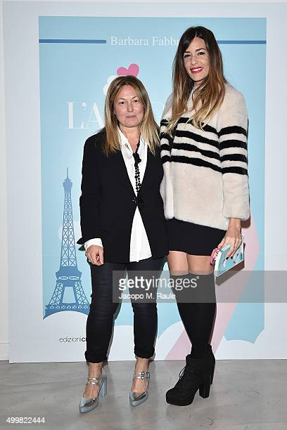 Barbara Fabbroni and Alessia Fabiani attend the book presentation of 'L'AMORE FORSE' by Barbara Fabbroni on December 3 2015 at the Maryling Concept...