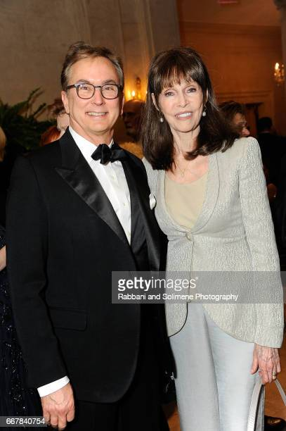 Barbara Feldon and guest attends the Orchestra Of St Luke's 2017 Gift Of Music Gala at The Plaza Hotel on April 12 2017 in New York City