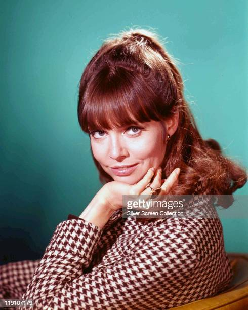 Barbara Feldon US actress poses with her chin resting in on her hand in a publicity portrait for the US television series 'Get Smart' USA circa 1965...