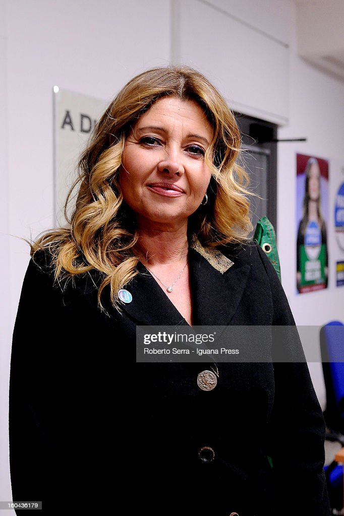 Barbara Festi candidate in next political elections to Italian Parliament attends a meeting with his supporters of Fratelli d'Italia party at their electoral headquarters on January 31, 2013 in Bologna, Italy. The general election in Italy is Febrary 24-25.