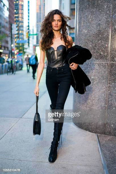Barbara Fialho arrives for fittings for the 2018 Victoria's Secret Fashion Show in Midtown on October 29 2018 in New York City