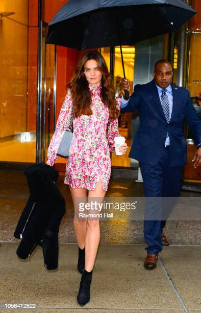 Barbara Fialho attends fittings for the 2018 Victoria's Secret Fashion Show in Midtown on November 6 2018 in New York City