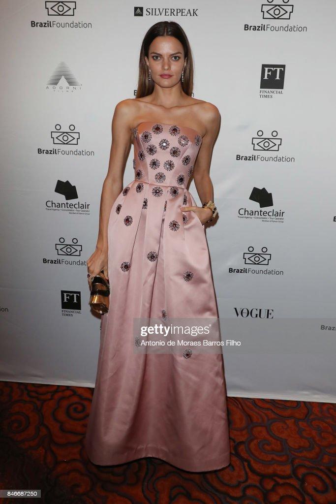 Barbara Fialho attends the Brazil Foundation Gala on September 13, 2017 in New York City.