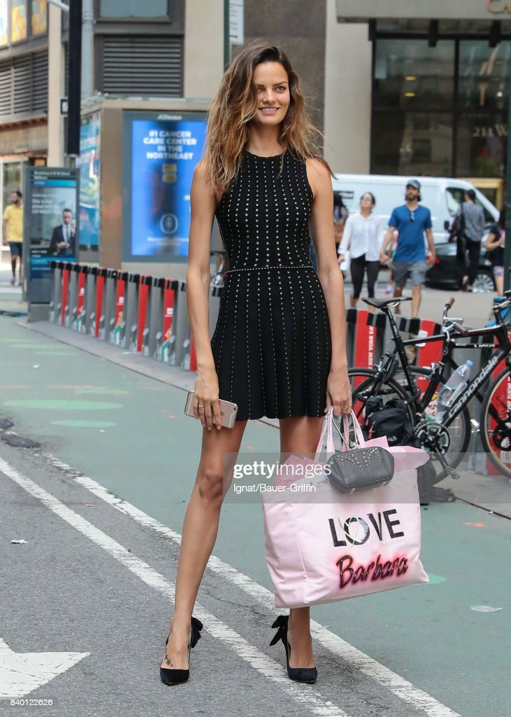 f13015ce Barbara Fialho is seen on August 27, 2017 in New York City. News ...