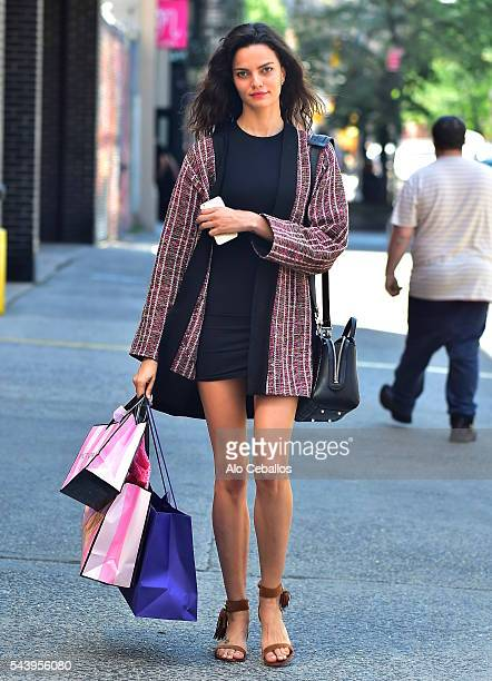 Barbara Fialho is seenin Soho on June 30 2016 in New York City