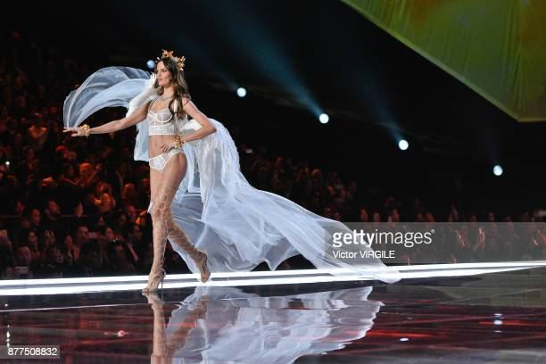 Barbara Fialho walks the runway at the 2017 Victoria's Secret Fashion Show In Shanghai Show at MercedesBenz Arena on November 20 2017 in Shanghai...